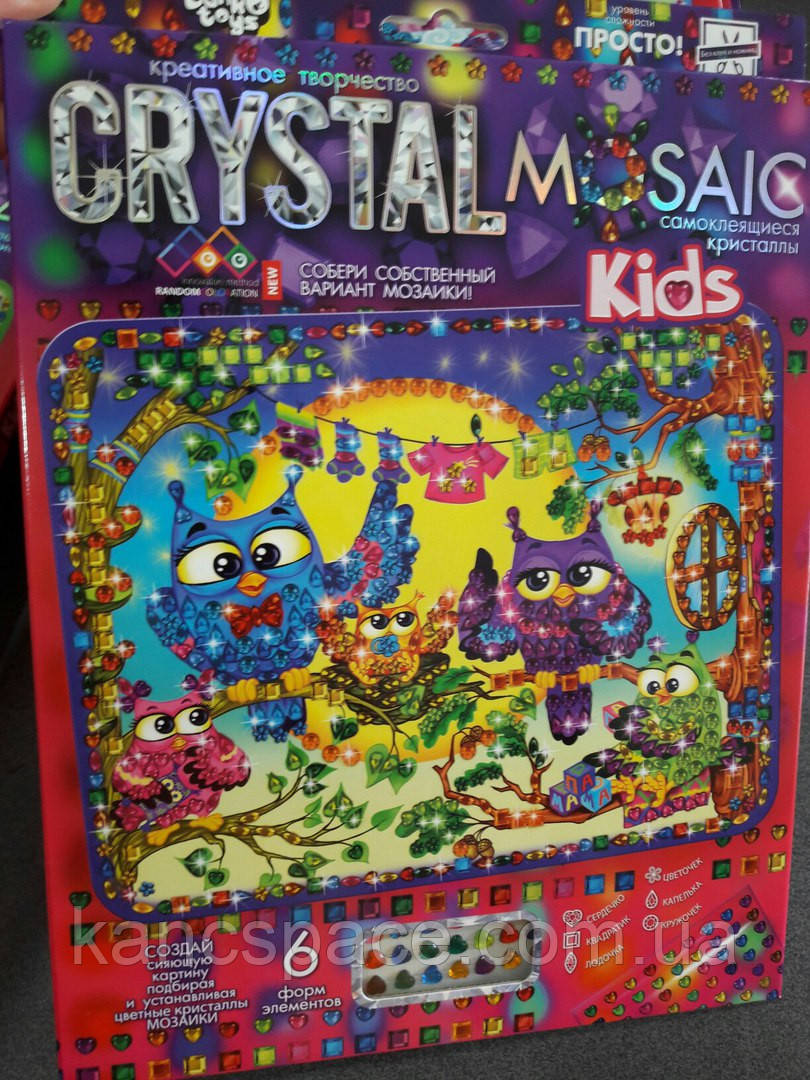 "Данко-Тойс Набор для тв. ""CRYSTAL MOSAIC KIDS\СОВЯТА"