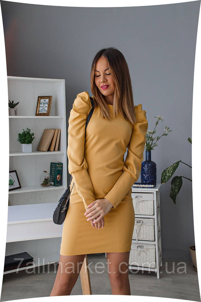 """Платье женское с разрезом на молнии, размеры 42-48 (4цв) """"LINDA"""" купить недорого от прямого поставщика"""