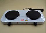 Плита электрическая двухконфорочная Crownberg - CB-3746 (дисковая), фото 5