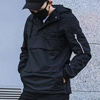 Ветровка-анорак мужская Пушка Огонь Wildscar черная XS