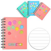 Блокнот - щоденник для запису NoteBook пластикова обкладинка, бічна спіраль, з розділами, А5, 110 аркушів