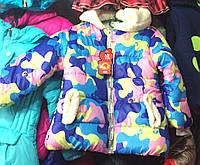 Детская утепленная куртка оптом на девочку 1-3 года
