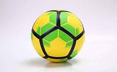 Мяч футбольный №5 PU ламин. Клееный PREMIER LEAGUE (№5) Желтый-салатовый PZ-FB-5927_1