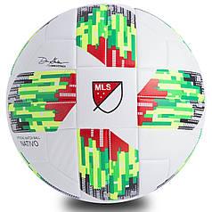 Мяч футбольный №5 PU ламин. Клееный MLS 2018 (№5) Белый-салатовый PZ-FB-0448_1