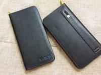 Чоловік клач - портмоне DeVIS XW 281 чорний, розмір 20х10х4,5см, штучна шкіра, фурнітура золото, гаманці