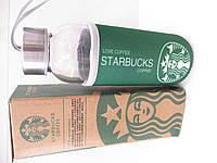 Термокружка скляна Starbucks GLASS чохол, з кришкою, Термос, Термокружки, Посуд, Starbucks, Пляшки