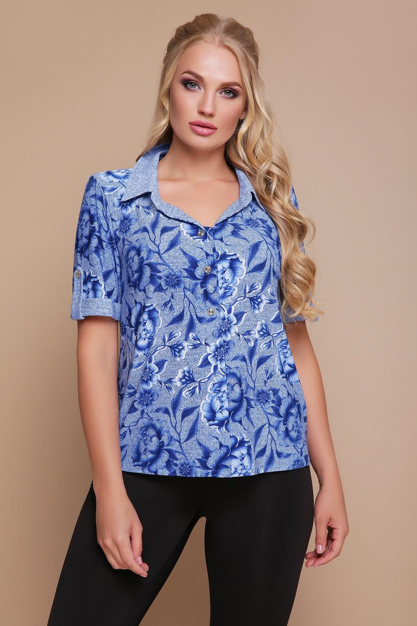 Рубашка Miledi Вега синий 52