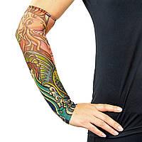 Нарукавники тату (2шт пара) нарукавники с татуировкой (полиэстер) PZ-MS-0286