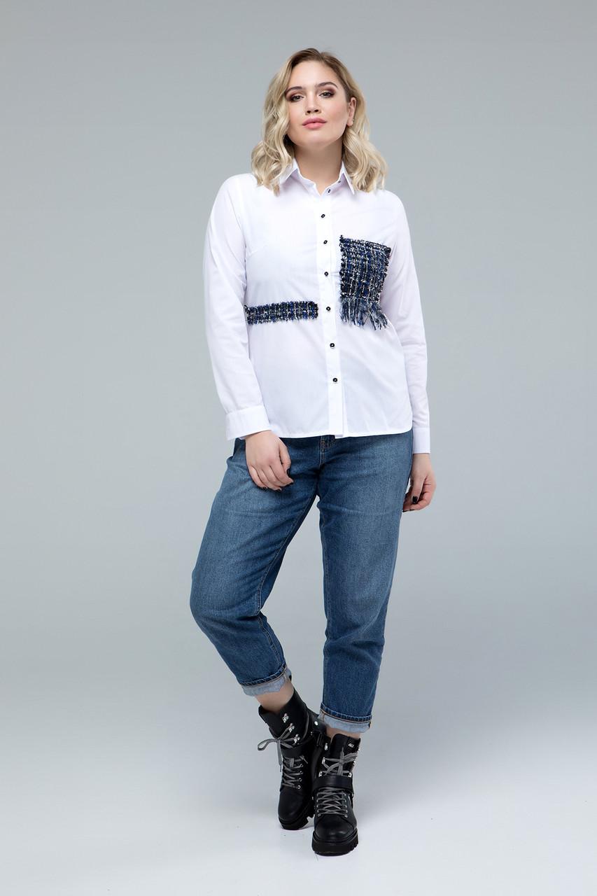 Рубашка Miledi Диана+ белый 54