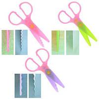 Ножиці дитячі для фігурного різання паперу R83934 в наборі 5 насадок, метал / пластик, різні кольори, ножиці, канцтовари, дитячі ножиці,