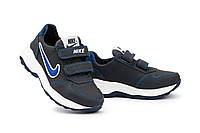Детские кроссовки кожаные весна/осень синие-голубые CrosSAV 40L, фото 1