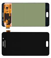 Дисплей модуль Samsung A7100, A710F Galaxy A7 (2016) в зборі з тачскріном, чорний, Original
