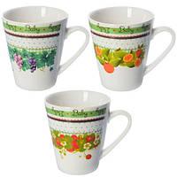 Чашка MC-2257 фарфор, 375мл, в наборі 12шт, біла з малюнком, чашки, кружка, посуд, столовий посуд, оригінальні чашки і кружки