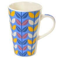 """Чашка керамічна """"Пелюстки"""" R16500 синій, 360мл, в упаковці 12шт, чашки, кружка, посуд, столовий посуд, оригінальні чашки і кружки"""