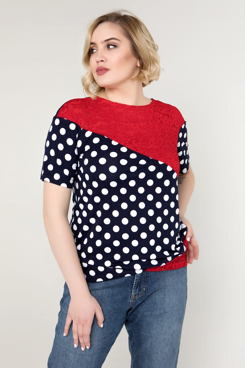 Блузка Miledi Нина красный 52