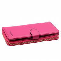 Жіночий клатч - гаманець Baellerry 13845 рожевий, на блискавки, штучна шкіра, Гаманець, Портмоне, Портмоне жіночі