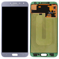 Дисплей Samsung J400 Galaxy J4 2018 модуль в сборе с тачскрином, голубой, Original (переклеенное стекло)