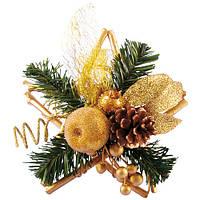 """Декор різдвяний """"Зірка"""" R84378 пластик, новорічні прикраси, новорічні іграшки, ялинкові іграшки, новорічний декор"""