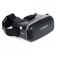 Окуляри віртуальної реальності VR BOX 3D, чорні, Android / IOS, регулювання відстані, Віртуальні окуляри