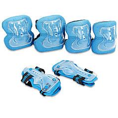 Защита детская наколенники, налокотники, перчатки Zelart LUX (S-M-3-12лет) PZ-SK-4679