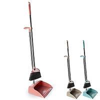 Мітла і совок для прибирання будинку Stenson пластик, різні кольори, розмір 90х25см, мітли, щітки, совок, віник, швабра, господарські товари, сад і