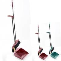 Мітла і совок для прибирання будинку Stenson пластик, різні кольори, мітли, щітки, совок, віник, швабра, господарські товари, сад і город