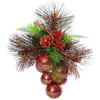 Декор різдвяний 9006 25см, новорічні прикраси, новорічні іграшки, ялинкові іграшки, новорічний декор