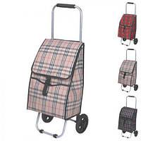 Тачка з сумкою на колесах Stenson різні кольори, 80см, текстиль / метал, побутові товари візки, візки ручні, візки вантажні, платформні