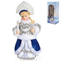 Снігуронька B02792 пластик, 25см, музика, світло, рух, новорічні прикраси, ялинкові іграшки, новорічні іграшки, новорічний декор