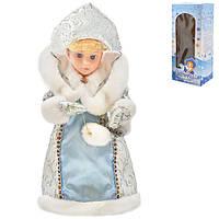 Снігуронька D11135 пластик, 30см, музика, світло, рух, новорічні прикраси, ялинкові іграшки, новорічні іграшки, новорічний декор