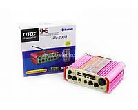 Підсилювач звуку UKC AMP AV 206 BT, компактний підсилювач звуку, підсилювач потужності