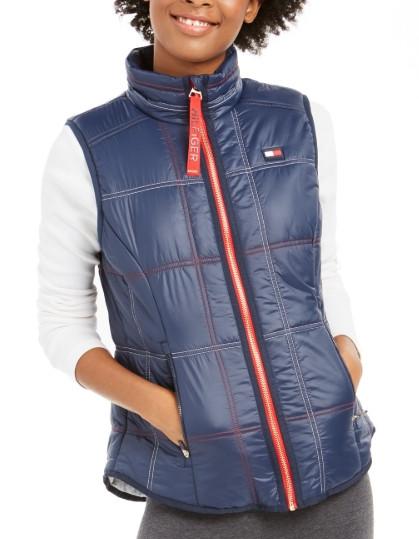 Теплая  синяя стеганная  жилетка   жилет  Томми  Хилфигер   Tommy Hilfiger Sport  (Размер L) Оригинал США