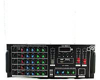 Підсилювач звуку AMP 747 + BT, 2-х канальний, компактний підсилювач звуку, підсилювач потужності