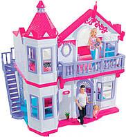 Игровой двухэтажный Дом с балконом, лестницей, аксессуарами для кукол 29см - Steffi и Evi Love Simba