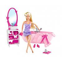 Игровой набор Ванная комната с куклой Штеффи 29см: ванна, столик с зеркалом и аксессуары - Steffi Love Simba