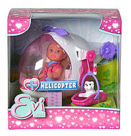 Игровой набор Кукла Еви на вертолете со спасательной корзинкой и питомцем-щенком - Helicopter Evi Love Simba