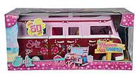 Детский Игровой Набор Для Куклы Штеффи Кемпинг розовый фургон с аксессуарами на колесах Steffi Simba Симба
