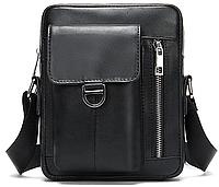 Компактная сумка из кожи Vintage 20030 Черная, фото 1