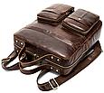 Рюкзак-Сумка 2 В 1 Для Ноутбука Vintage 20035 Коричневый, Коричневый, фото 6
