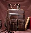 Рюкзак-Сумка 2 В 1 Для Ноутбука Vintage 20035 Коричневый, Коричневый, фото 9