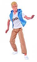 Игровая шарнирная Кукла Кевин в модной жилетке светлых брюках, высота 30см - Steffi Love Cool Kevin Simba