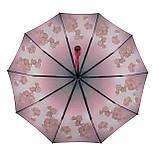 Женский зонтик полуавтомат с орхидеями от Flagman / Флагман, малиновый,  733-1, фото 4