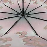 Женский зонтик полуавтомат с орхидеями от Flagman / Флагман, малиновый,  733-1, фото 5