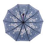 Женский зонтик полуавтомат с орхидеями от Flagman / Флагман, фиолетовый,  733-4, фото 4