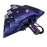 Женский зонтик полуавтомат с орхидеями от Flagman / Флагман, фиолетовый,  733-4, фото 6