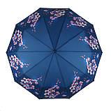 Женский зонтик полуавтомат с орхидеями от Flagman / Флагман, синий,  733-6, фото 2
