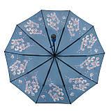 Женский зонтик полуавтомат с орхидеями от Flagman / Флагман, синий,  733-6, фото 4