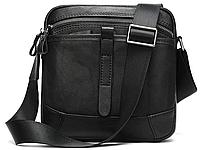 Компактная сумка через плечо из кожи Vintage 20034 Черная, фото 1