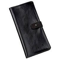 Бумажник мужской вертикальный из кожи алькор SHVIGEL 16204 Черный, Черный, фото 1