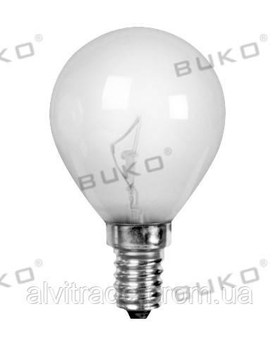 Лампа накаливания WATC WT150 40W,  Е14 220V шар прозрачный, матовый, белый